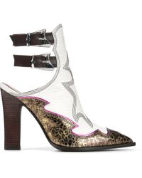 Donald J Pliner - Giorgi Crocco And Leopard Metallic Print Bootie - Lyst
