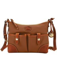 Dooney & Bourke - All Weather Leather 2 Letter Carrier - Lyst