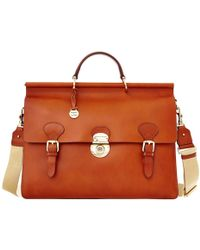 Dooney & Bourke - Alto Double Gusset Buckle Briefcase - Lyst