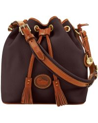 Dooney & Bourke - All Weather Leather 2 Medium Drawstring - Lyst