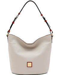132495ffddf45 Lyst - Tory Burch Thea Woven Leather Tote Bag in Brown