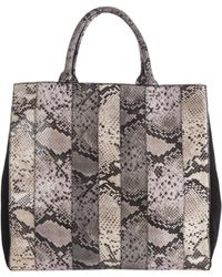 Dorothee Schumacher - Patched Perfection Patched Snake Neoprene Bag With Black Cal - Lyst