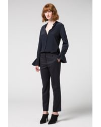 Dorothee Schumacher | Cool Ambition Classic Loose Fit Pants With Satinpiping | Lyst