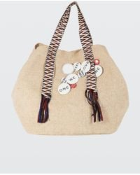Dorothee Schumacher - Summer Softness Canvas Bag With Tape - Lyst