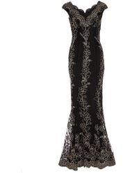 64375dc40ed Dorothy Perkins - Quiz Multi Colour Embroidered Fishtail Maxi Dress - Lyst