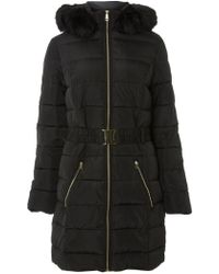 Dorothy Perkins - Tall Black Luxe Padded Coat - Lyst