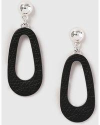 Dorothy Perkins - Black Textured Stud Drop Earrings - Lyst