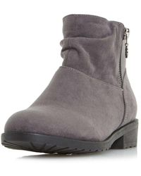 Dorothy Perkins   Head Over Heels By Dune Grey Perci Ankle Boots   Lyst