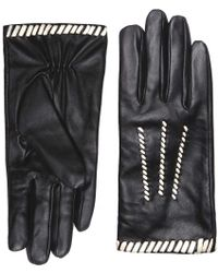 Dorothy Perkins - Monochrome Leather Whipstitch Gloves - Lyst