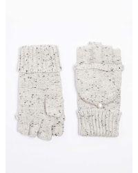 Dorothy Perkins - Grey Neppy Fingerless Gloves - Lyst
