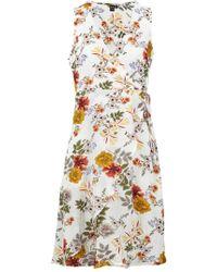 014d9e49d3 Lyst - Dorothy Perkins Izabel London Curve Navy Zip Front Maxi Dress ...