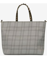 Dorothy Perkins - Monochrome Check Studded Handle Shopper Bag - Lyst