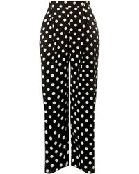 37fb75c81418a Dorothy Perkins - Dp Curve Monochrome Spotted Palazzo Trousers - Lyst