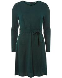 6ec5acc1505 Dorothy Perkins - Green Tie Waist Cut And Sew Fit And Flare Dress - Lyst