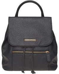 Dorothy Perkins - Black Zip Front Backpack - Lyst