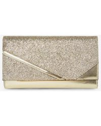 Dorothy Perkins - Gold Metal Bar Panel Clutch Bag - Lyst 73f57863de