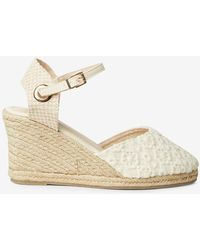 Dorothy Perkins - Wide Fit Cream 'raven' Wedges - Lyst