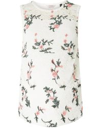 Dorothy Perkins - Maternity White Embroidered Lace Vest - Lyst