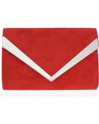 Dorothy Perkins - Quiz Red Thick Plated Clutch Bag - Lyst