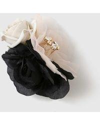 Dorothy Perkins - Fabric Flower Brooch - Lyst