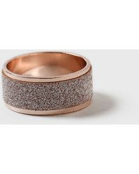 Dorothy Perkins - Peach Glitter Band Ring - Lyst