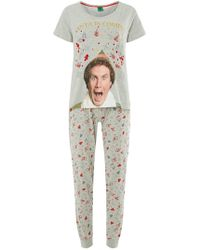 Dorothy Perkins - Grey Elf Pyjamas - Lyst