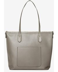 Dorothy Perkins - Grey Scallop Stud Shopper Bag - Lyst