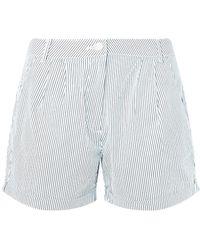 Dorothy Perkins - Navy Striped Poplin Shorts - Lyst