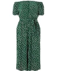 1000220bcefe Dorothy Perkins Billie   Blossom Green Palm Print Jumpsuit in Green ...