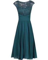Dorothy Perkins - Jolie Moi Petrol Blue Lace Fit And Flare Dress - Lyst
