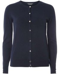 Dorothy perkins Navy Cotton Cardigan in Blue | Lyst