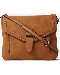 Dorothy Perkins Tan Whipstitch Cross Body Bag in Brown - Lyst ad4a759f9e