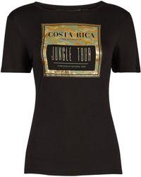 Dorothy Perkins Black Costa Rica Camouflage Print Logo T-shirt