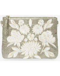 Dorothy Perkins - White Embroidered Clutch Bag - Lyst