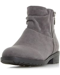 Dorothy Perkins - Head Over Heels By Dune Grey Perci Ankle Boots - Lyst