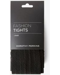 Dorothy Perkins - Black 1 Pack Cable Knitted Tights - Lyst