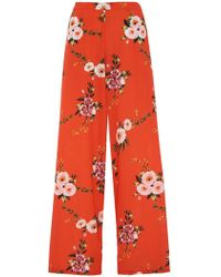 Dorothy Perkins - Quiz Orange Floral Palazzo Trousers - Lyst