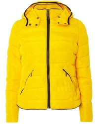 Dorothy Perkins - Yellow Short Tip Padded Coat - Lyst