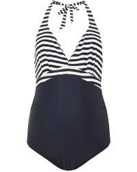 Dorothy Perkins - Mamalicious Maternity Navy Swimsuit - Lyst
