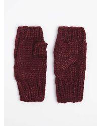 Dorothy Perkins - Wine Fingerless Gloves - Lyst
