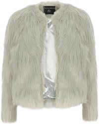 Dorothy Perkins - Mint Short Faux Fur Coat - Lyst