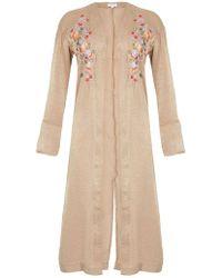 Dorothy Perkins - Blue Vanilla Stone Embroidered Kimono - Lyst