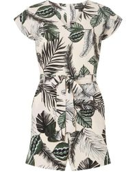 Dorothy Perkins - Blush Tropical Playsuit - Lyst