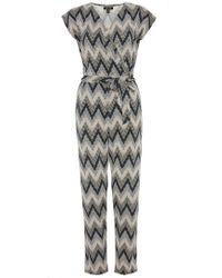 Dorothy Perkins - Quiz Black And Stone Jumpsuit - Lyst