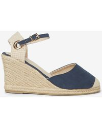 Dorothy Perkins - Wide Fit Navy 'raven' Wedges - Lyst
