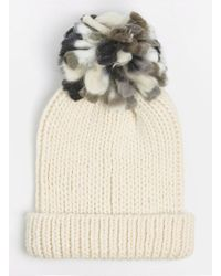 597b50b76a4 Lyst - Dorothy Perkins Cream Cable Knit Beanie Hat in Natural