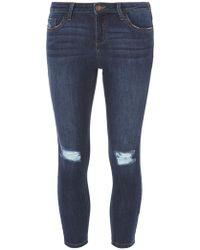 Dorothy Perkins - Petite Indigo 'darcy' Skinny Ankle Grazer Jeans - Lyst