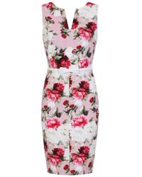 c84980cce56 Lyst - Dorothy Perkins Paper Dolls Red Bardot Lace Bodycon Dress in Red