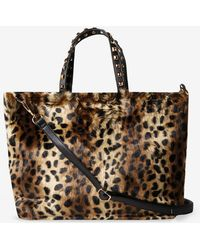 Dorothy Perkins - Leopard Print Faux Fur Shopper Bag - Lyst