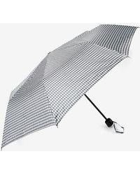 Dorothy Perkins - Black Dog Tooth Checked Umbrella - Lyst